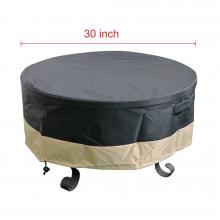 Stanbroil Full Coverage Round Fire Pit Cover, Black, 30 Inch