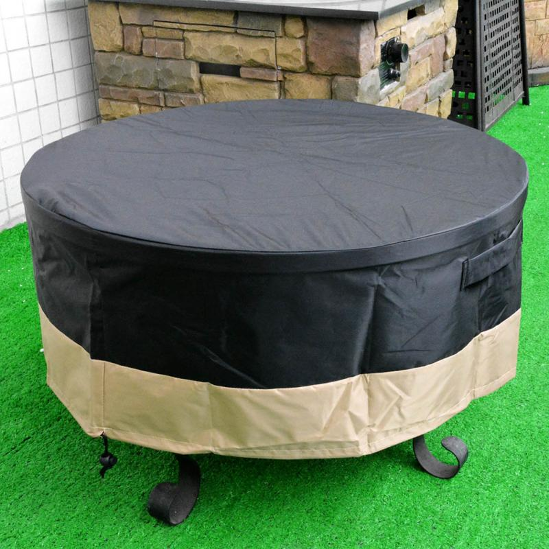 Stanbroil Full Coverage Round Fire Pit Cover, Black, 60 Inch