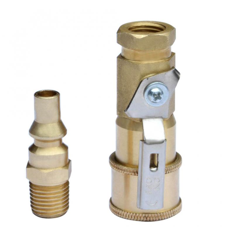 "Stanbroil Propane Brass Quick Connect Fitting - Full Flow Male Plug x 1/4"" Male NPT for RV Portable BBQ"