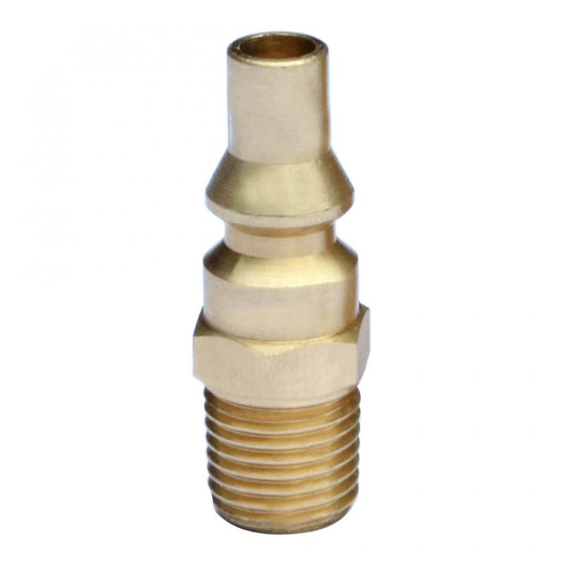 Stanbroil Propane Brass Quick Connect Fitting - Full Flow Male Plug x 1/4