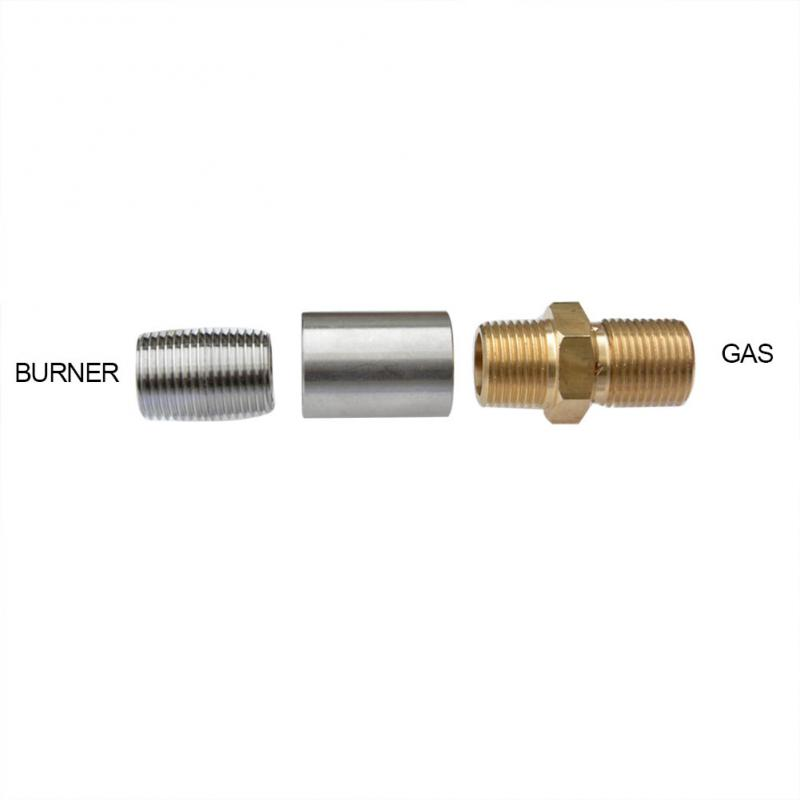 "Stanbroil 1/2"" LP Air Mixer Valve for Liquid Propane Fire Pits, 150K BTU Max, Stainless steel"