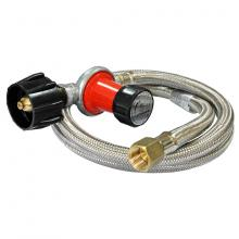 Stanbroil 0-30 PSI Adjustible Regulator and 48-Inch Stainless Steel Braided Hose Assembely Kit