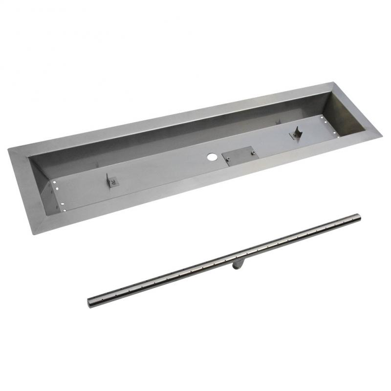 Stanbroil Stainless Steel Linear Trough Drop-In Fire Pit Pan and Burner 36 by 6-Inch