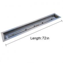 Stanbroil Stainless Steel Linear Trough Drop-In Fire Pit Pan and Burner 72 by 6-Inch