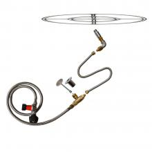 Stanbroil LP Propane Gas Fire Pit Stainless Steel Burner Ring Installation Kit, 24-inch