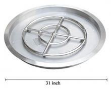 Stanbroil Stainless Steel Round Drop-In Fire Pit Burner Ring Pan, 31-Inch