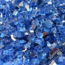 Stanbroil 10-pound 1/4 inch Fire Glass for Fireplace Fire Pit, Cobalt Blue Reflective