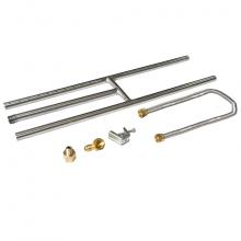 Stanbroil Rectangular Stainless Steel H-Burner for NG Fireplace, 24x6 Inches