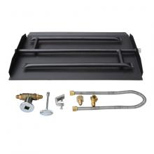 Stanbroil 18-inch Natural Gas Powder Coated Steel Fireplace Triple Flame Pan Burner Kit