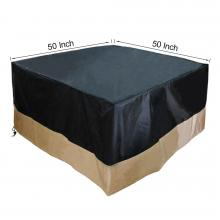 Stanbroil Square Fire Pit /Table Cover, Black, 50-Inch