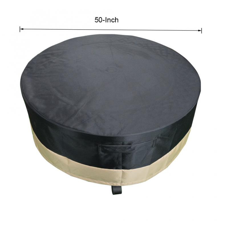 Stanbroil Full Coverage Round Fire Pit Cover Table Black 50 Inch