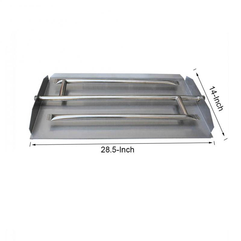 Stanbroil Stainless Steel Triple Fireplace Burner Pan, 28.5 Inches