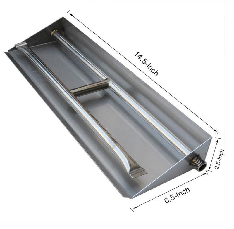 Stanbroil Stainless Steel Dual Fireplace Burner Pan, 14.5 Inches