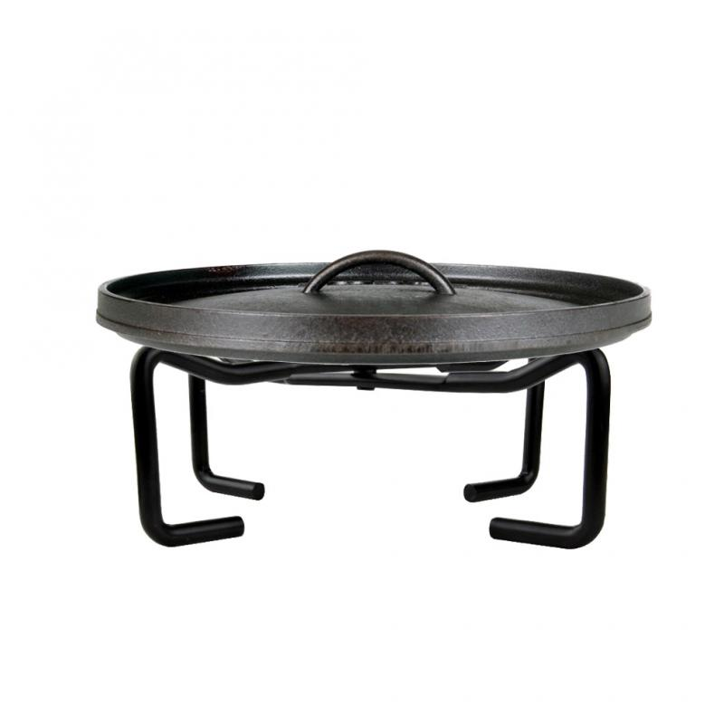 Stanbroil Cast Iron Folding Finish Camp Dutch Oven Lid Stand
