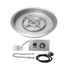 Stanbroil 19 inch Round Drop-In Fire Pit Pan with Spark Ignition Kit Propane Gas Version