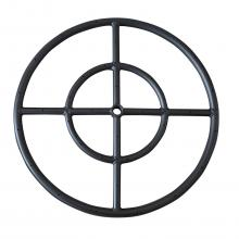 Stanbroil 12 Inch Round Fire Pit Burner Ring, Double Ring, Black Steel