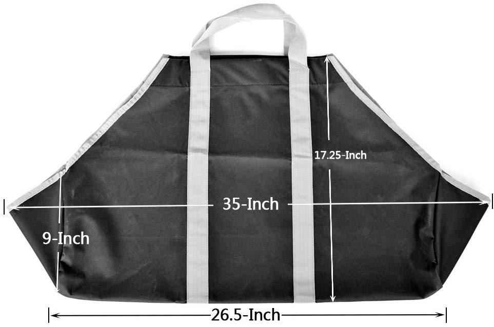Stanbroil Firewood Carry Bag & Log Tote, Black