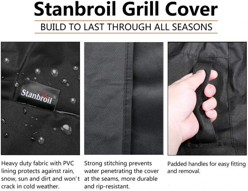 Stanbroil Outdoor Waterproof Weather Resistant Barbecue Built-in Grill Top Cover, Small