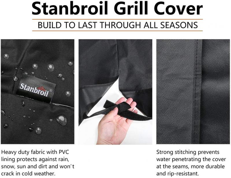 Stanbroil Outdoor Heavy Duty Waterproof Barbecue Gas Grill Cover, UV and Fade Resistant, All Weather Protection for Pit Boss Model PBV7P1