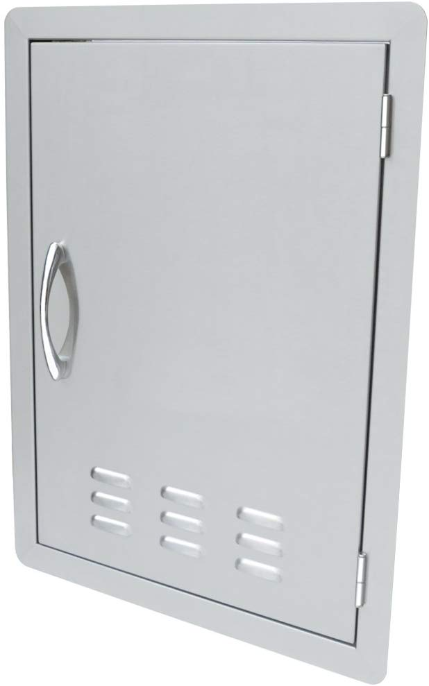 Stanbroil Stainless Steel Single Vertical Access Door with Vents, 17-Inch by 24-Inch