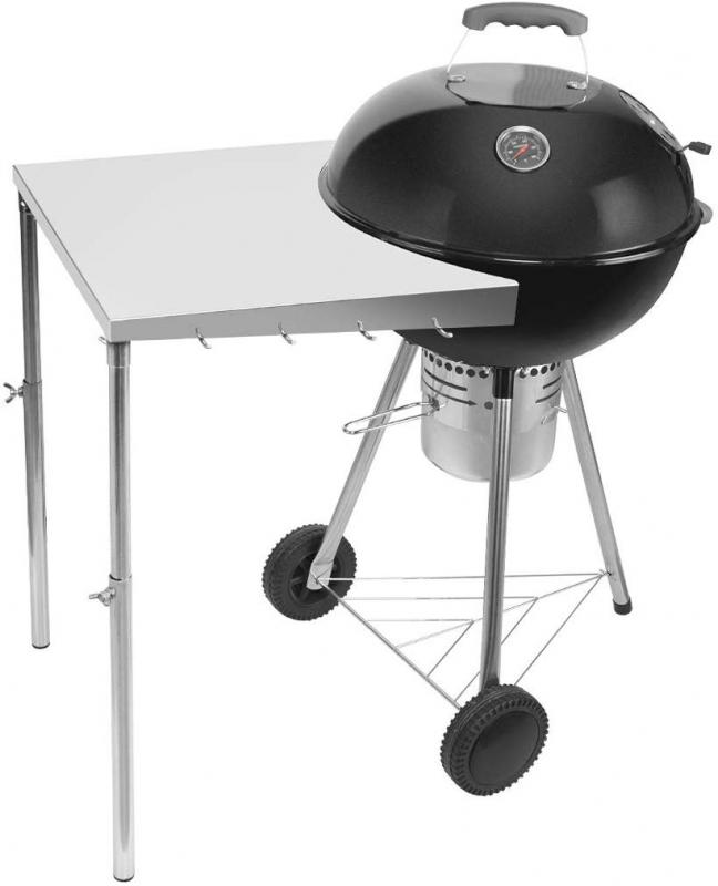 "Stanbroil Stainless Steel Work Table Fits All Weber 18"", 22"" Charcoal Kettle Grills and Other Similar Size Charcoal Kettle Grills -Patent Pending"