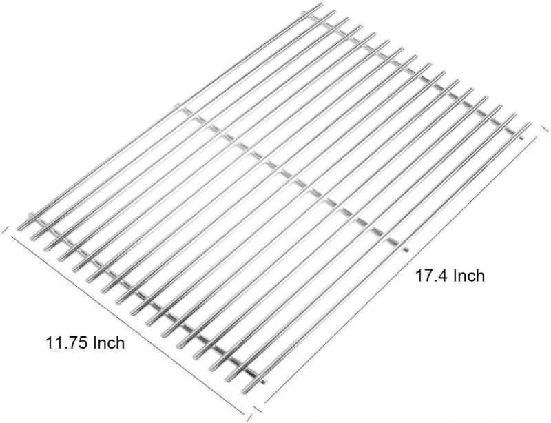 Stanbroil Stainless Steel Gas Grill Cooking Grate for Weber Spirit II and Spirit II LX 300 Series Gas Grills, Replacement Parts for Weber 67023 - Set of 2…