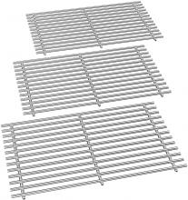 Stanbroil Stainless Steel Cooking Grates Fit Weber Summit 600 Series Summit E-620 S-620 Gas Grills Without Smoker Box, Replacement Parts for Weber 67551 - Set of 3