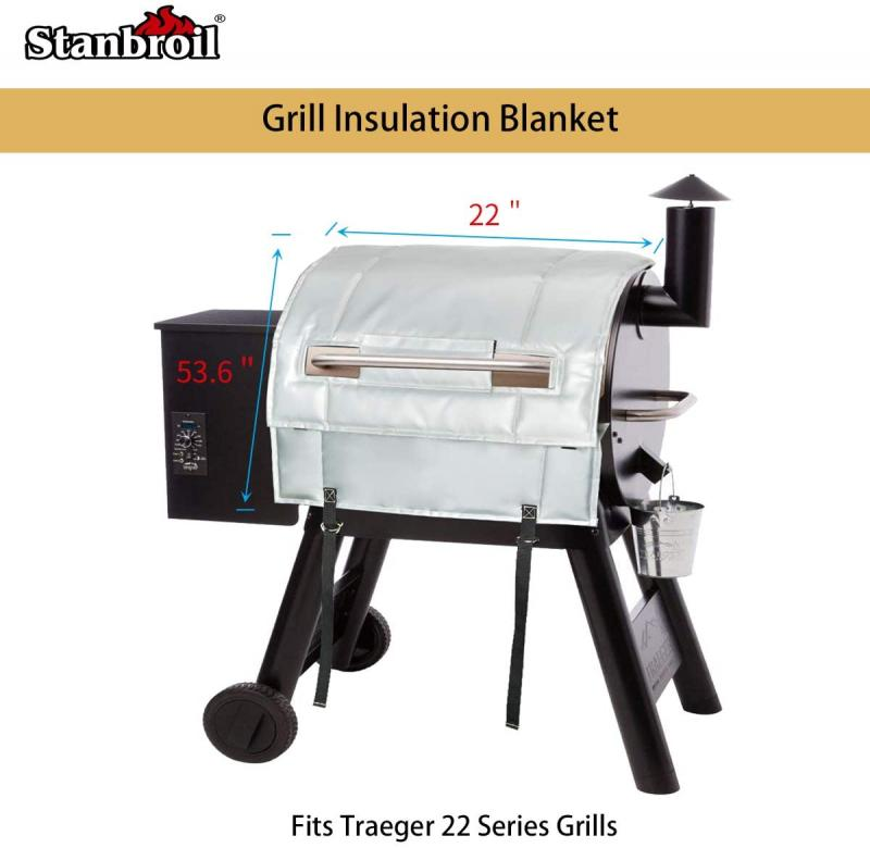 Stanbroil BBQ Grill Thermal Insulation Blanket for Traeger Pro 22 Series, Pro 575, Pro 20 and Lil' Tex Elite