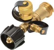 Stanbroil Propane Gas Brass Tee Adapter with 4 Port for RV or Motorhome, Acme Nut &QCC1