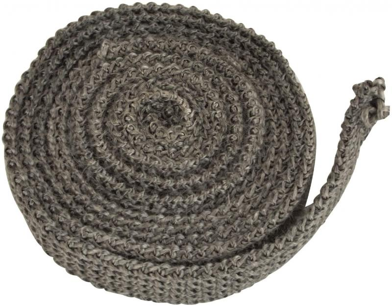 "Stanbroil Graphite Impregnated Fiberglass Flat Rope Seal Gasket Replacement for Wood Stoves - 5/8"" x 1/8"" x 84"""
