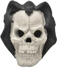 Stanbroil Fire Pits Imitated Human Skull with Black Bat Decoration for Indoors Outdoors Campfire, Fireplace, Halloween Party Decor, 1 Pack - Patent Pending