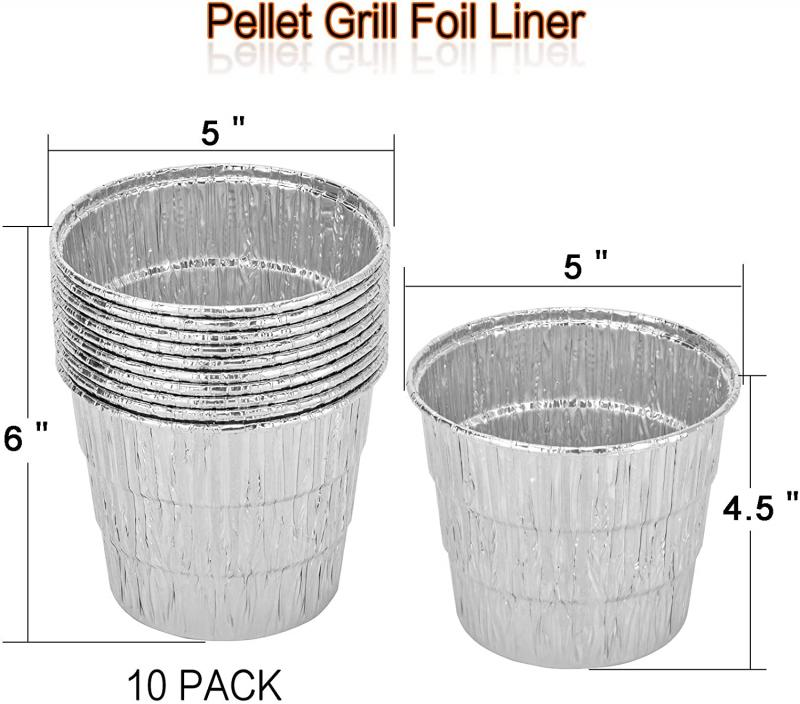 Stanbroil Drip Grease Bucket with 10-Pack Disposable Foil Liners Wood Pellet Grills Replacement for Traeger, Pit Boss, Camp Chef, Louisiana and Also Fits Most Other Wood Pellet Grills